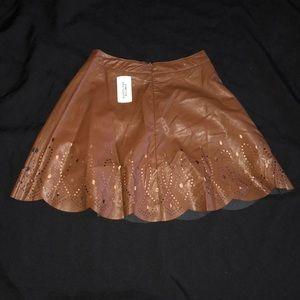 Forever 21 Skirts - Vegan leather skaters short skirt